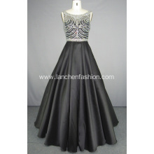 Beading Mikado Ball Gown Prom Dress
